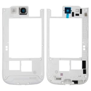 Housing Middle Part for Samsung I9300 Galaxy S3 Cell Phone, (white)