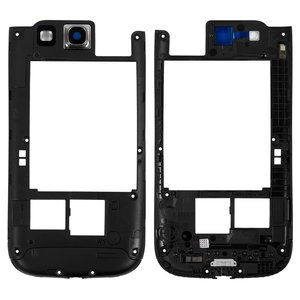 Housing Middle Part for Samsung I9300 Galaxy S3 Cell Phone, (black)
