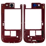 Housing Middle Part for Samsung I9300 Galaxy S3 Cell Phone, (red)