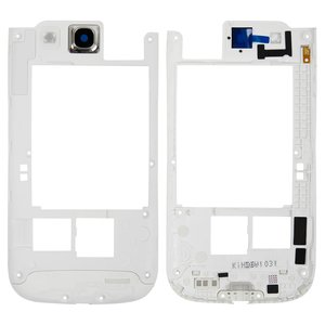 Housing Middle Part for Samsung I9305 Galaxy S3 Cell Phone, (white)