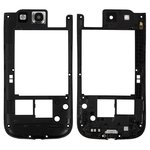 Housing Middle Part for Samsung I9305 Galaxy S3 Cell Phone, (black)