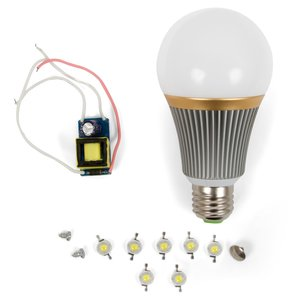 LED Lamp DIY Kit SQ-Q23 7 W (cold white, E27)