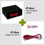 IP-Box with Charging Cables and iOS8 Adapter