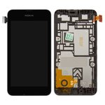 LCD for Nokia 530 Lumia Cell Phone, (black, with frame, with touchscreen)