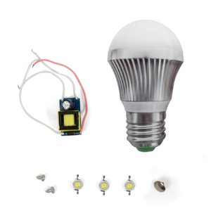 LED Lamp DIY Kit SQ-Q19 3 W (cold white, E27)