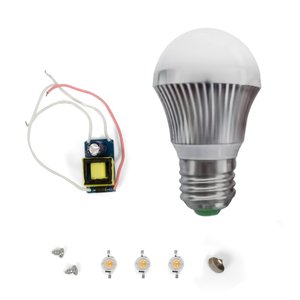LED Lamp DIY Kit SQ-Q19 3 W (warm white, E27)