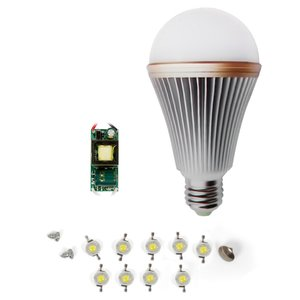LED Lamp DIY Kit SQ-Q24 9 W (cold white, E27)