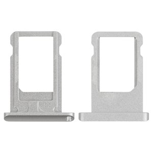SIM-card Holder for Apple iPad Air (iPad 5), iPad Mini 2 Retina Tablets, (silver)