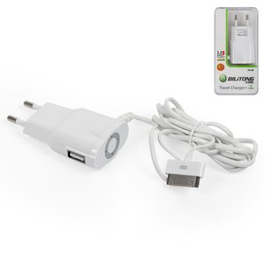 Mains Charger Bilitong for Apple iPhone 2G, iPhone 3G, iPhone 3GS, iPhone 4, iPhone 4S, iPhone 5 Cell Phones;Apple iPod Mini 1G, iPod Nano 3G, iPod Nano 4G, iPod Photo 4G, iPod Touch 1G, iPod Touch 2G, iPod Touch 3G, iPod Touch 4G, iPod Video 30GB, iPod Video 80GB MP3-Players, (white, 220 v, (USB connector 5V 1A), (output 5V 1A))