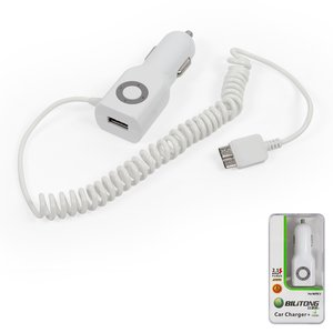 Car Charger Bilitong micro-USB3.0 for Samsung G900H Galaxy S5, N900 Note 3, N9000 Note 3, N9005 Note 3, N9006 Note 3 Cell Phones, (white, 12 v, (output 5V 1A), (USB output 5V 2,1A))