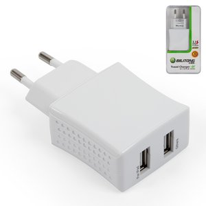 Charger Bilitong TC10, (white, 220 v, USB outlet 5V 1 A/2,1 a, plug-in)