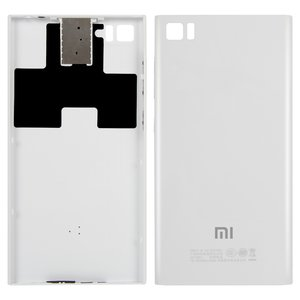 Battery Back Cover for Xiaomi Mi3 Cell Phone, (white, TD-SCDMA)