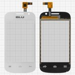 Touchscreen for BLU D140 Dash Jr Cell Phone, (white)
