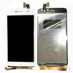 LCD for Vivo Y22l Cell Phone, (white, with touchscreen)