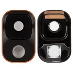Camera Lens for Samsung N900 Note 3, N9000 Note 3, N9005 Note 3, N9006 Note 3 Cell Phones, (black and gold)