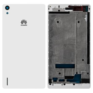 Housing for Huawei Ascend P7 Cell Phone, (white)