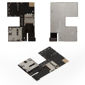 SIM Card Connector for HTC Desire 500 Cell Phone, (memory card connector, with flat cable)