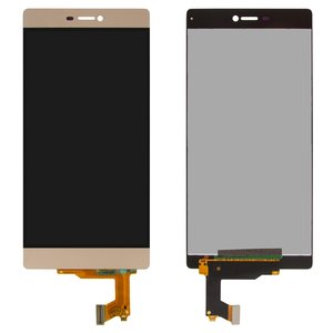 LCD for Huawei P8 (GRA L09) Cell Phone, (golden, with touchscreen, original (PRC))