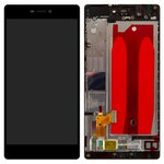 LCD for Huawei P8 (GRA L09) Cell Phone, (black, with front panel, with touchscreen, original (PRC))