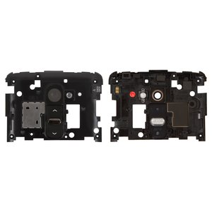 Housing Middle Part for LG G2 D800, G2 D801, G2 D802, G2 D803, G2 D805, LS980 Cell Phones, (black, with ON/OFF button, with camera glass)