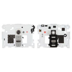 Housing Middle Part for LG G2 D800, G2 D801, G2 D802, G2 D803, G2 D805, LS980 Cell Phones, (white, with ON/OFF button, with camera glass)