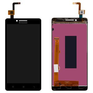 LCD for Lenovo A6000, K3 (K30-T), K3 (K30-W) Cell Phones, (black, with touchscreen)