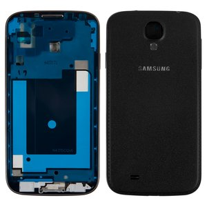 Housing for Samsung I9500 Galaxy S4 Cell Phone, (black, black edition)