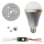 LED Light Bulb DIY Kit SQ-Q24 12 W (cold white, E27)