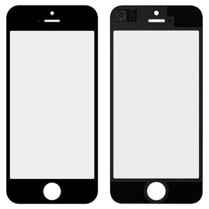 Housing Glass for Apple iPhone 5, iPhone 5C, iPhone 5S, iPhone SE Cell Phones, (black, original)