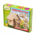 IGROTECO Country House 4 in 1 Building Set