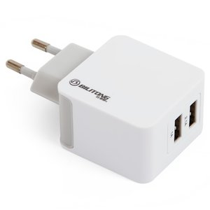 Charger Bilitong P052113, (220 v, universal, USB outlet 5V 1 A/2,1 a, plug-in)