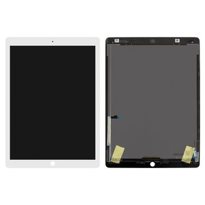 LCD for Apple iPad Pro 12.9 Tablet, (white, without flat cable, with touchscreen, A1584/A1670)