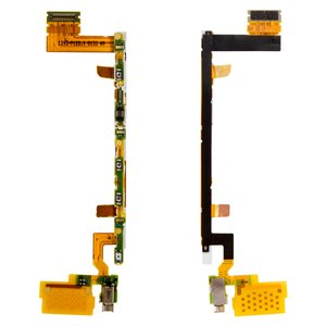 Flat Cable for Sony E6603 Xperia Z5, E6653 Xperia Z5, E6683 Xperia Z5 Dual Cell Phones, (start button, with components)