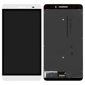 LCD for Lenovo Phab Plus PB1-770M LTE Tablet, (white, with touchscreen)