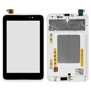 LCD for Lenovo IdeaTab A3500 Tablet, (white, with touchscreen, with frame)