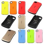Protective Case iFace for Apple iPhone 4, iPhone 4S Cell Phones, (golden, shockproof )