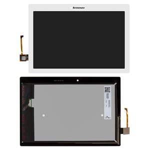 LCD for Lenovo TAB 2 A10-70F, Tab 2 A10-70L Tablets, (white, with touchscreen)