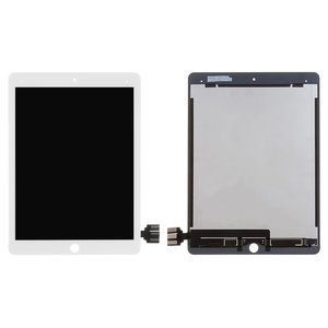 LCD for Apple iPad Pro 9.7 Tablet, (white, with touchscreen, original (PRC), A1652)
