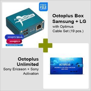 Octoplus Box Samsung + LG Edition with Optimus Cable Set + Octoplus Unlimited Sony/Sony Ericsson Activation