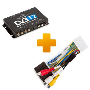 DVB-T2 TV Receiver and Connection Cable Kit for Toyota Touch 2 / Entune Monitors