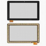 "Touchscreen for China-Tablet PC 10,1""; Prestigio MultiPad Wize (PMT3111) Tablets, (10,1"", 159 mm, 262 mm, 60 pin, capacitive, black) #MB1019Q5/HC261159A1/FPC017H V2.0"