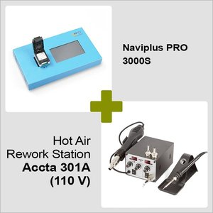 Naviplus PRO 3000S + Hot Air Rework Station Accta 301A (110 V)
