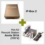 IP-Box 2 + Hot Air Rework Station Accta 301 (110V)