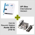 UFI Box International Version + Hot Air Rework Station Accta 301 (110V)