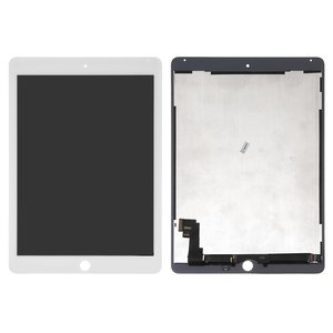 LCD for Apple iPad Air 2 Tablet, (white, with touchscreen, High Copy)