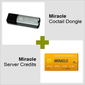 Miracle GSM Cocktail Dongle y 10 créditos del servidor Miracle