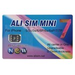 Tarjeta actualizable Ali SIM Mini 7 para iPhone 5/5C/5S/SE/6/6+/6S/6S+/7/7+