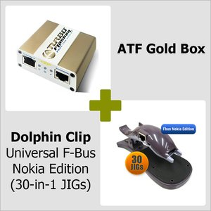 ATF Gold Box + Dolphin Clip Universal Fbus Nokia Edition ( 30-в-1 JIG )