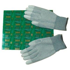 Антистатические перчатки Maxsharer Technology C0504-M с полиуретановым покрытием пальцев