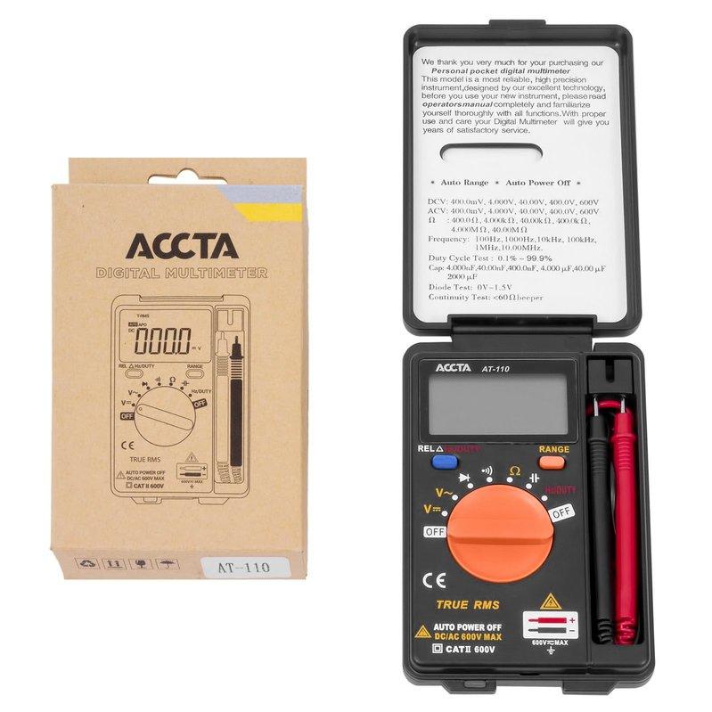 Кишеньковий цифровий мультиметр Accta AT-110 Зображення 1